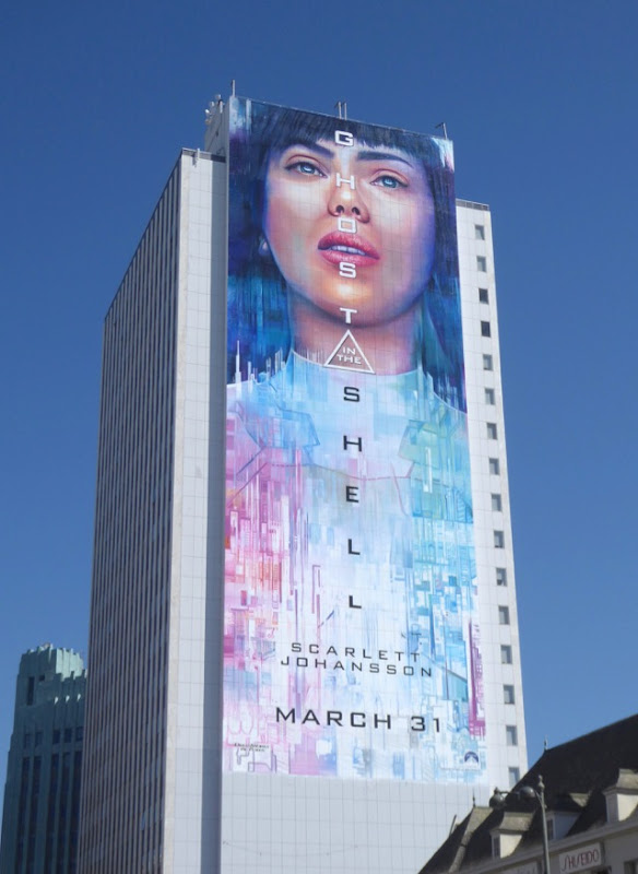 Giant Ghost in the Shell 2017 movie billboard