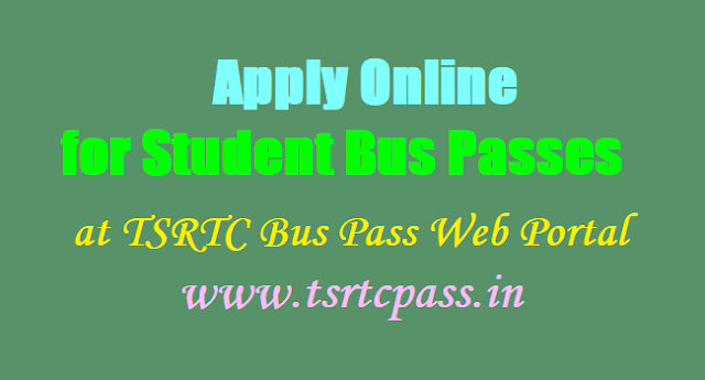 Apply Online for Student Bus Passes,TSRTC Bus Pass web portal,www.tsrtcpass.in
