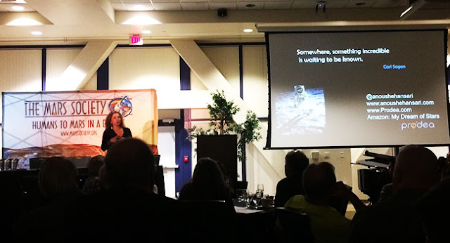 Mars Society banquet speaker Anousheh Ansari talks of trip to ISS