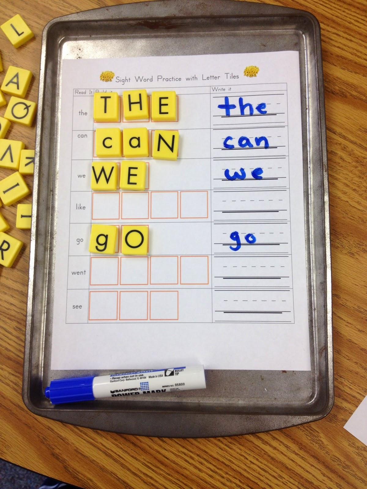 Kindergarten Is Crazy Fun Sight Word Literacy Station Activities
