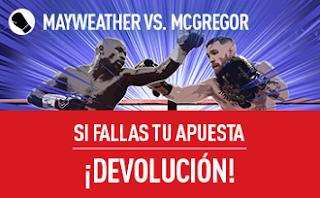 sportium seguro apuesta 10 euros Mayweather vs McGregor 27 agosto