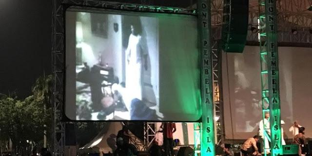Ada nobar film G30S/PKI dan Bagi-bagi buku Habib Rizieq di Doa Untuk Bangsa