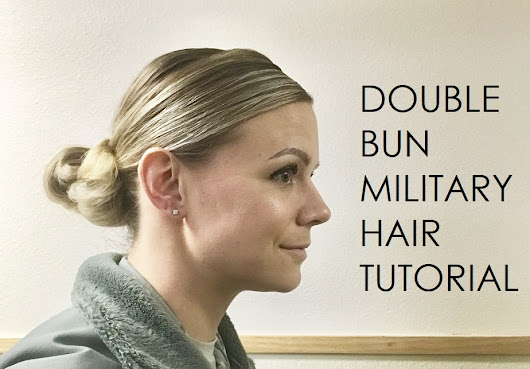 Military Double Bun Hair Tutorial