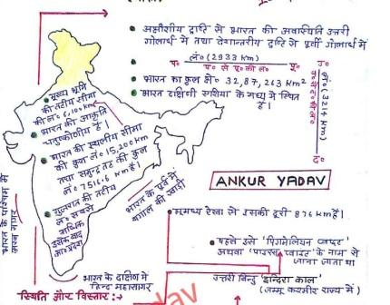 Geography Handwritten Notes By Ankur Yadav (Hindi) PDF Download