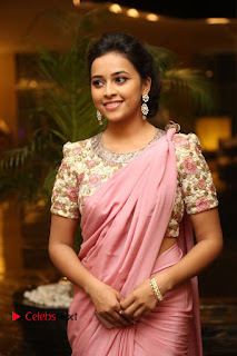 Sri Divya Stills in Saree at Rayudu Movie Audio Launch ~ Celebs Next