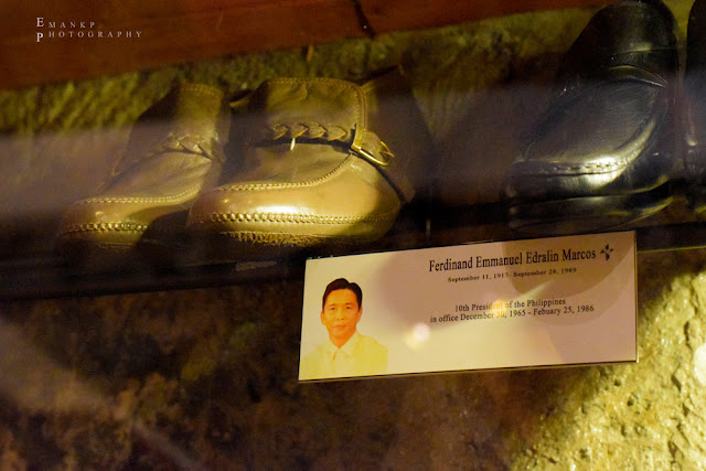 Two pairs of men's shoes owned by the late Ferdinand Marcos.