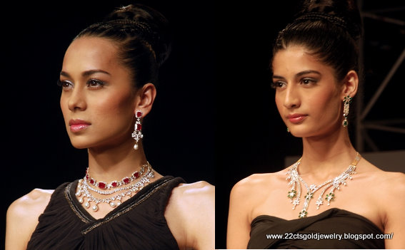 Gold Jewellery Designs Diamond Necklace Designs