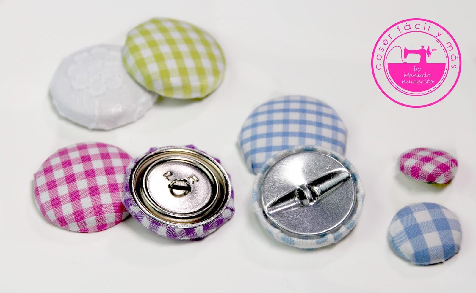 El blog de coser f cil y m s by menudo numerito - Botones para forrar ...