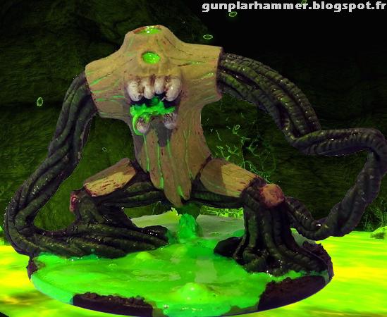 Bête de Nurgle Warhammer Nurgle Beast fluorescent