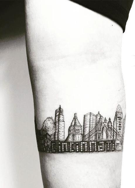 tatuagens para quem ama a arquitetura