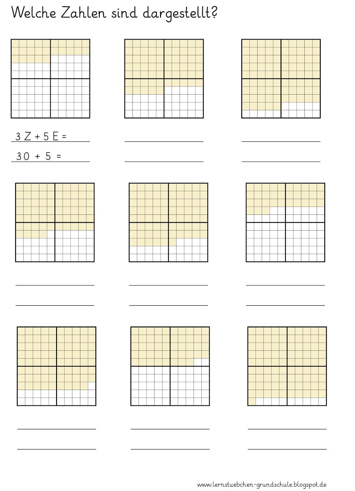Lernstübchen: Addition mit Zehnerzahlen