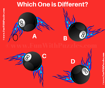 Answer of Spot the different 8 Ball Picture Puzzle
