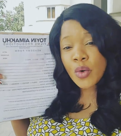 toyin aimakhu selling application form N5000k