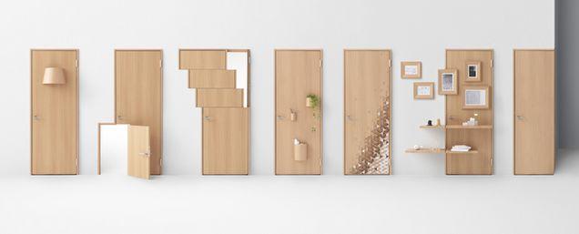 Arredo in porte per interni fuori dagli schemi - Parete in legno per interni ...
