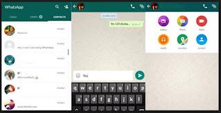 tampilan aplikasi chat whatsapp versi terbaru