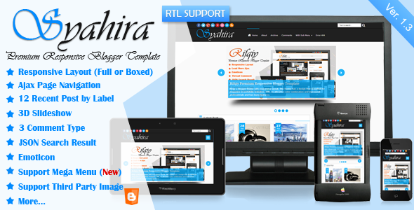 Syahira Blogger Template Free Download