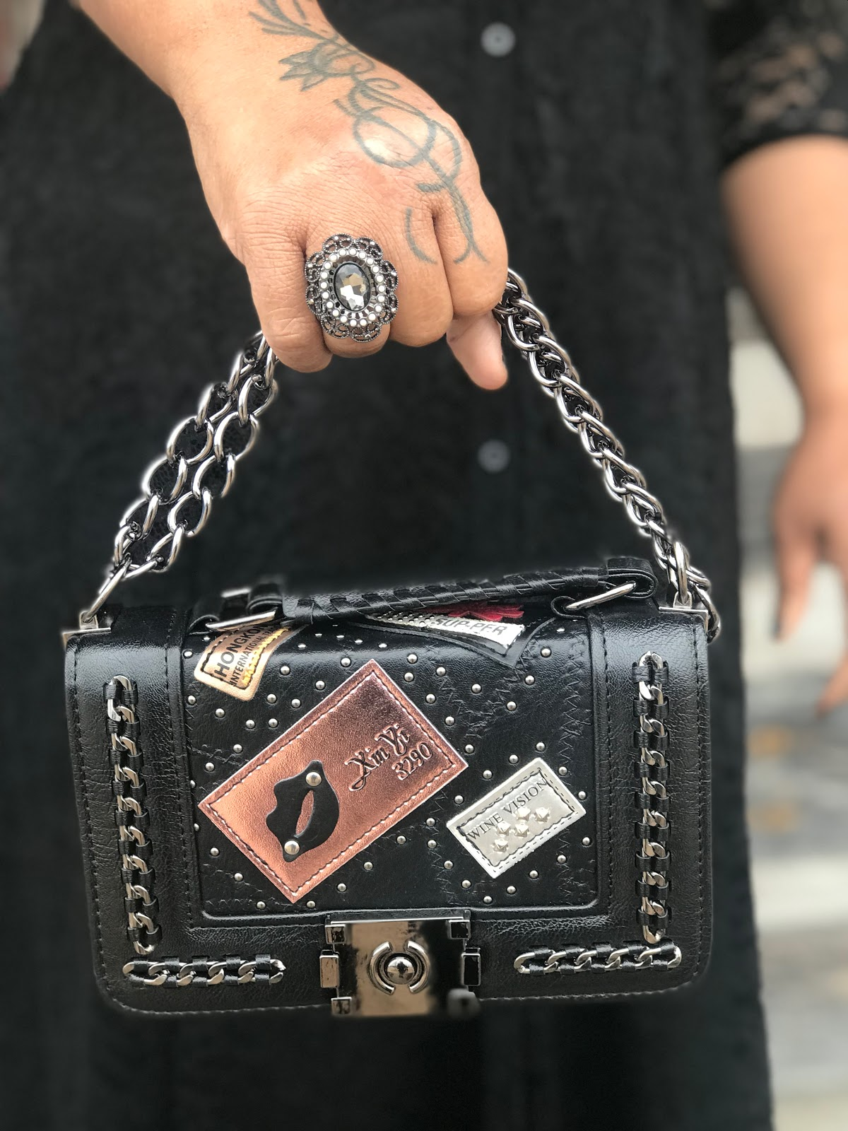 Image: Woman sharing her love and style for trendy accessories that look good on older women
