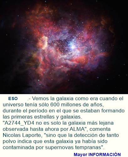 Los objetos más distantes observados por ALMA