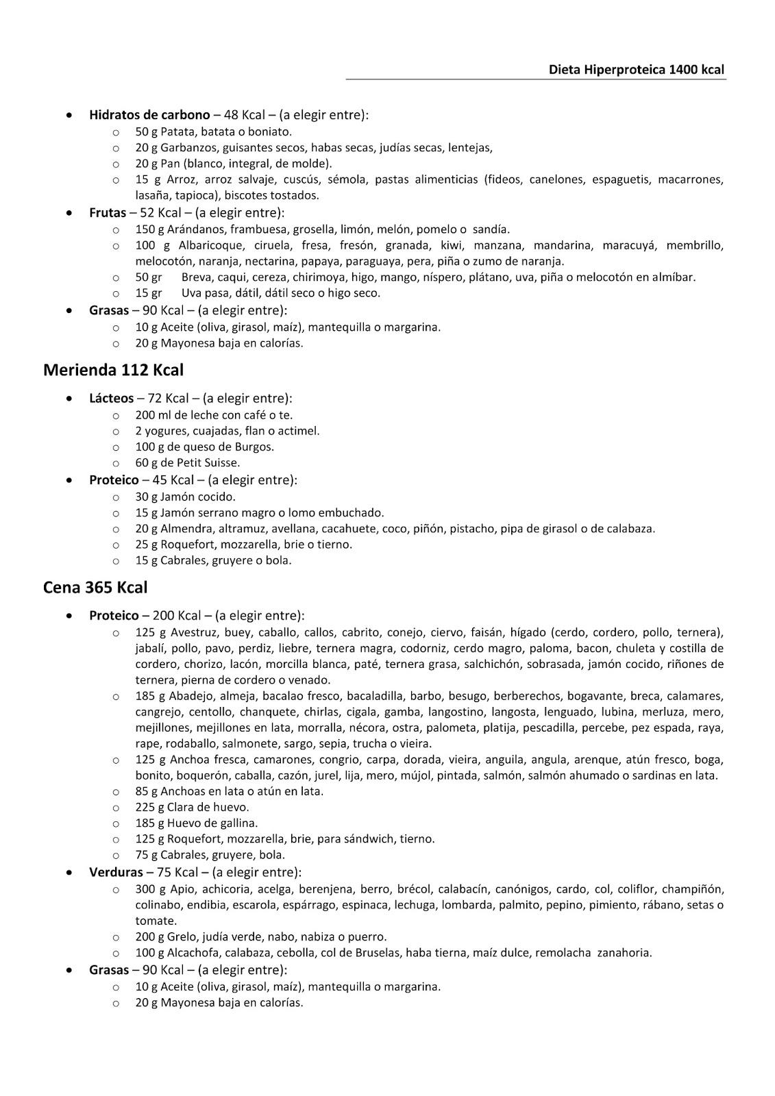 plan de comidas de 1200 calorías pdf