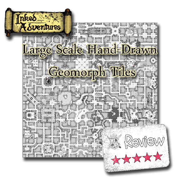 Frugal GM Review: Inked Adventures Hand Drawn Large Geomorph Tiles