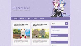 ReZero chan Blogger template
