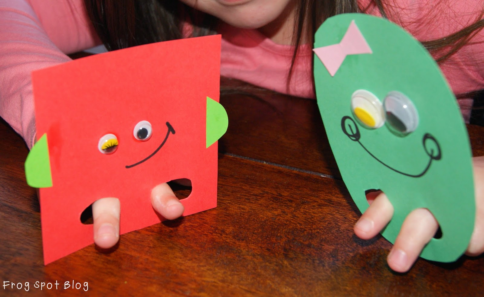 2d shape puppets from the pond for Pond shape ideas
