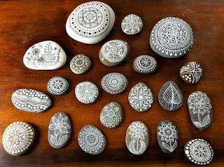 dibujos mandalas en piedras