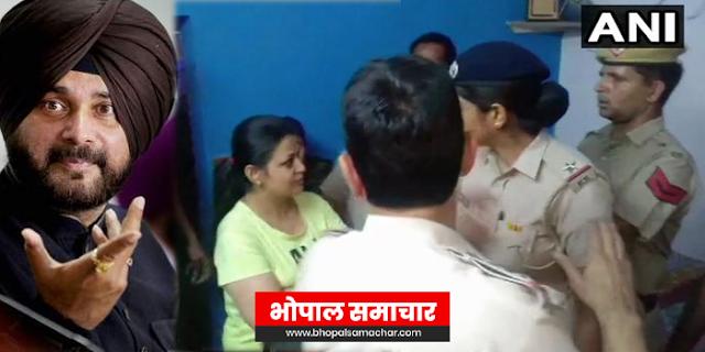 नवजोत सिंह सिद्धू पर चप्पल फेंककर महिला बोली: पार्टी क्यों बदली   NATIONAL NEWS
