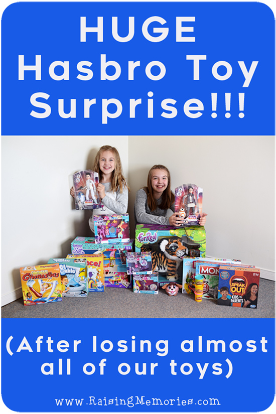 Hasbro Surprised us with a huge package of toys