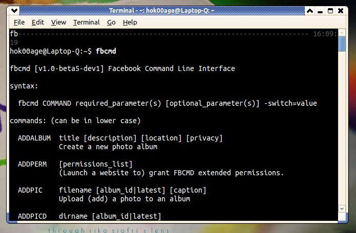 Ubuntu Buzz !: Fbcmd: Use Facebook from Command Line