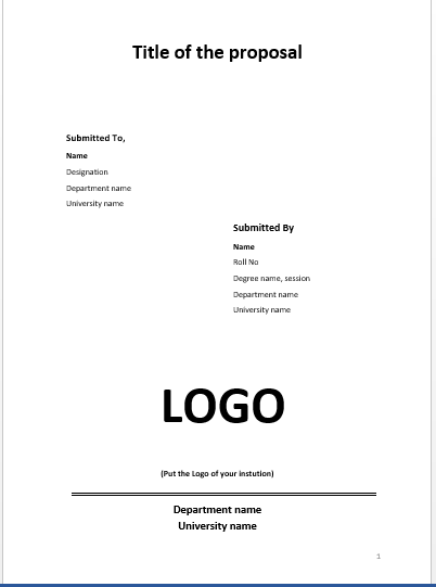 It Is Needed To Give More Attention On The Proposal Content Rather Than Its  Design. You Can Follow This Simple Cover Page Design For Your Proposal   Proposal Cover Page Design