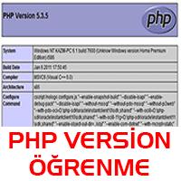 php versiyon öğrenme