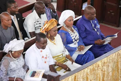 f - Minister Of Transport Chbuike Amaechi And Wife Absent At Rivers state 50th year thanksgiving service