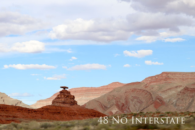 48 No Interstate back roads cross country coast-to-coast road trip Utah red rock Mexican Hat