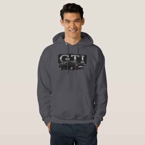 VW Golf GTI MK1 long sleeve print t-shirt black