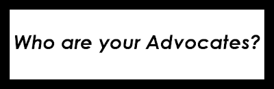 Image that says Who are your advocates?