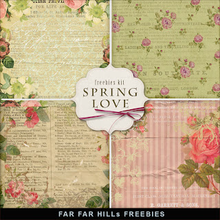 Freebies Background Kit - Spring Love