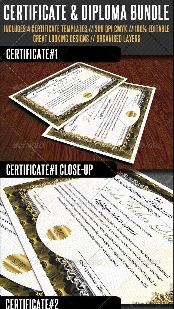21 awesome certificate templates in psd ms word vector eps formats premium certificate bundle yelopaper Choice Image