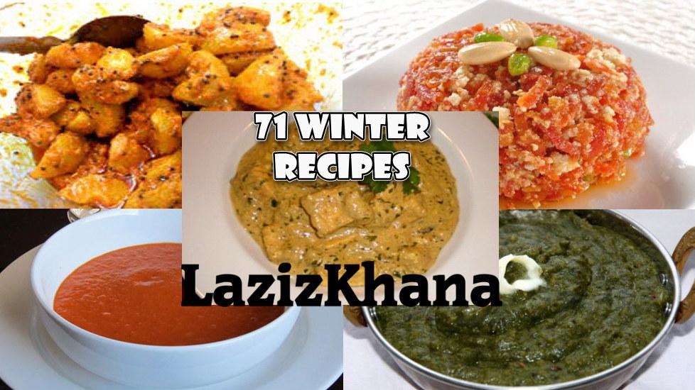 71 Winter Recipes in Hindi - 71 विंटर रेसिपीज इन हिंदी