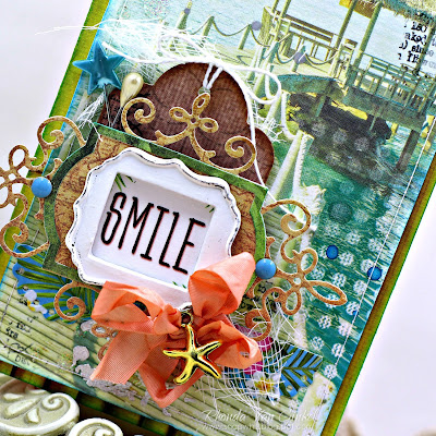 Smile Card featuring the Tropics Collection by ScrapBerry's designed by Rhonda Van Ginkel