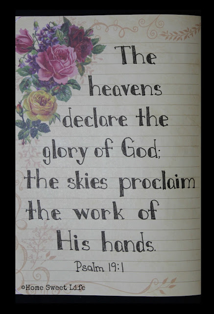 Scripture Writing, Psalm 19:1