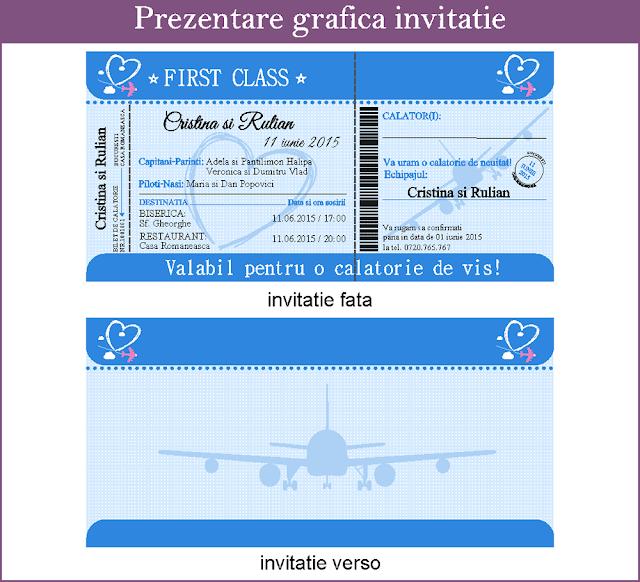 Invitatii Nunta Bilet de Avion