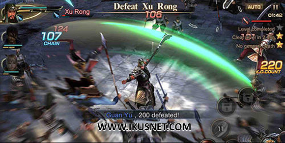 Download Dynasty Warriors Unleashed Apk v0.3.67.26 English Android Terbaru 2017 Gratis