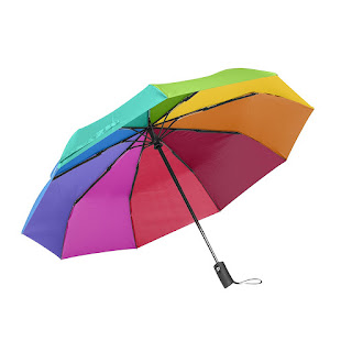 compact travel umbrella-wind resistant,auto open/close