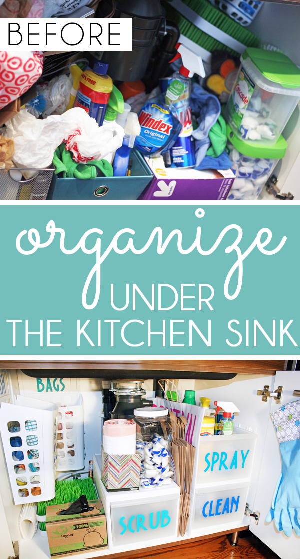 Organize Under a Kitchen Sink