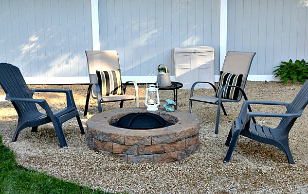 Chairs around outdoor fire pit