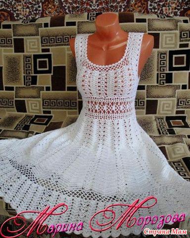 Patrón de Vestido a Crochet