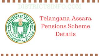 Telangana Assara Pensions Scheme Details