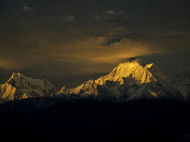 View of Sunset in Kausani, Uttarakhand
