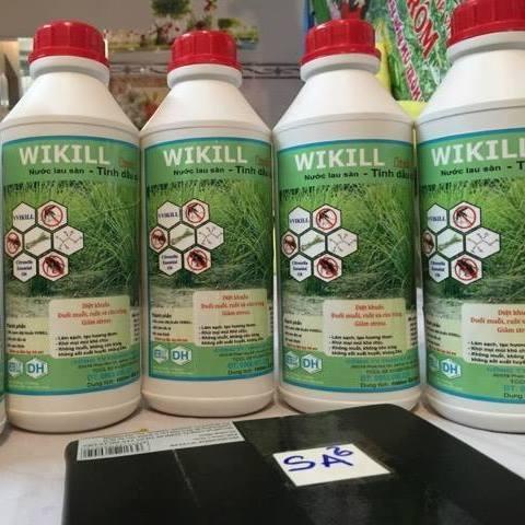 Nước lau sàn tinh dầu sả Vikill phòng tránh muỗi